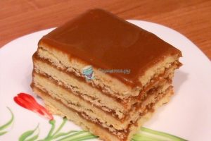 Торт песочный с вареной сгущенкой