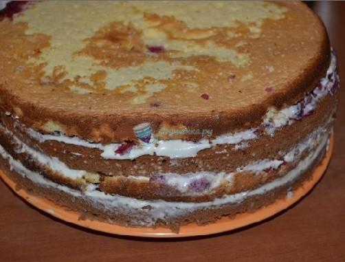 Бисквитный торт вишневый рецепт