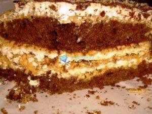 Торт Лакомка со сгущенкой