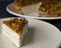 Кусочек Блинного торта со сгущенкой