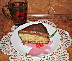 Кусочек торта Сметанник