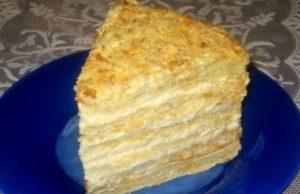 Торт «Наполеон» из готового слоеного теста