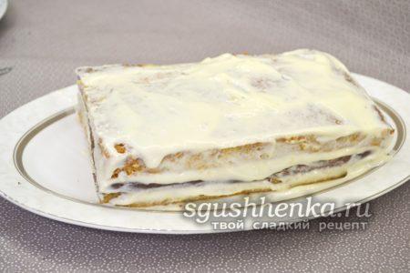 сборка торта со сгущенкой