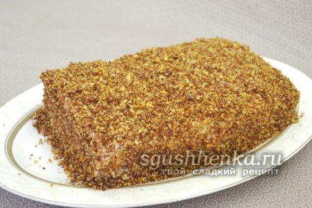 Торт со сгущенкой за 30 минут, простой рецепт вкусного торта