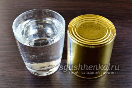 сгущенка и вода
