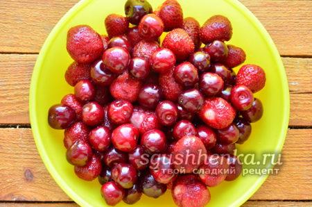 вымытые ягоды
