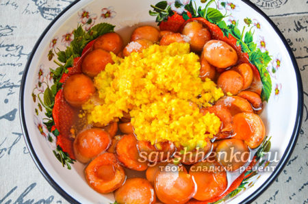 добавление измельченного апельсина