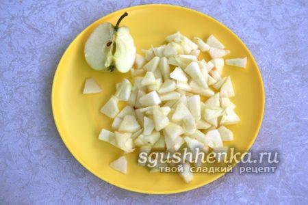 измельченные яблоки