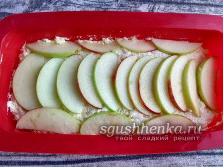 слой яблок