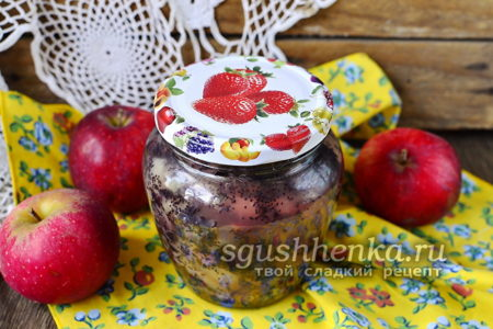 джем с яблоками и маком