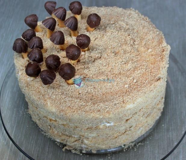 Торт Трухлявый пень со сгущёнкой