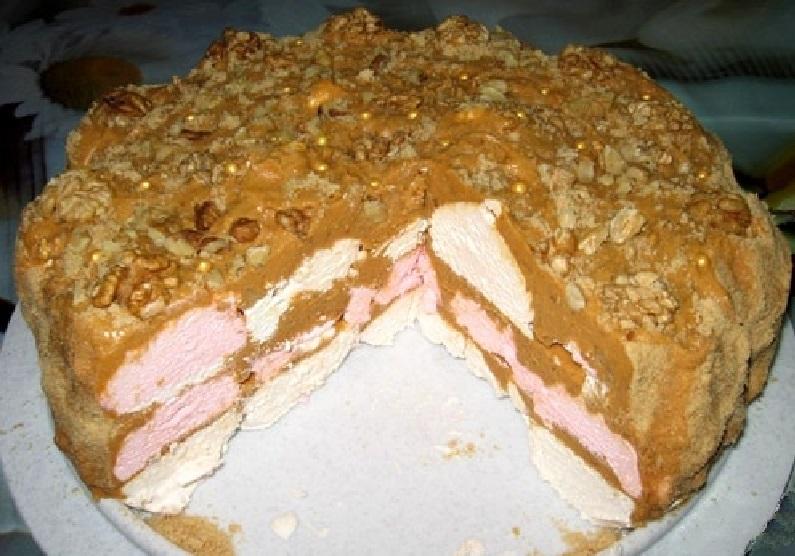 Торт из зефира без выпечки со сгущенкой