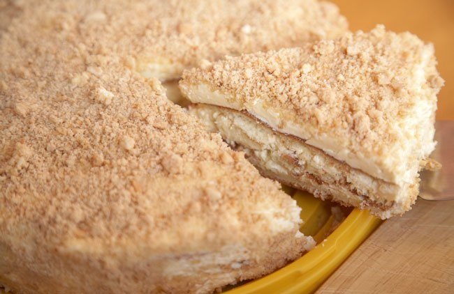 Бисквитный торт на сгущенке
