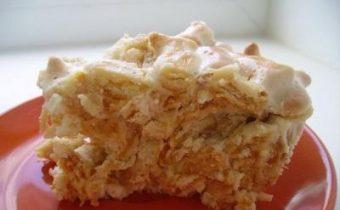 Готовый торт из рыбок