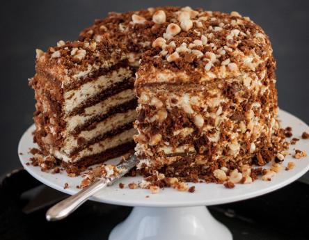 Торт с орехами рецепт с фото пошагово