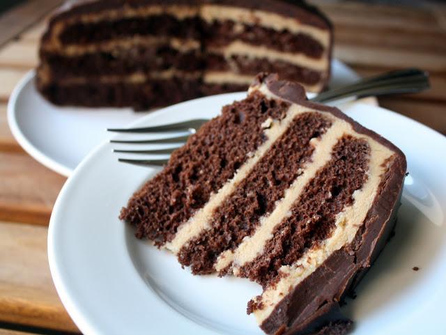 Бисквитный торт с кофе и сгущенкой