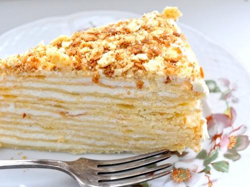 Слоеный торт на сковороде