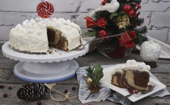 Мраморный торт с майнезом и сгущенкой