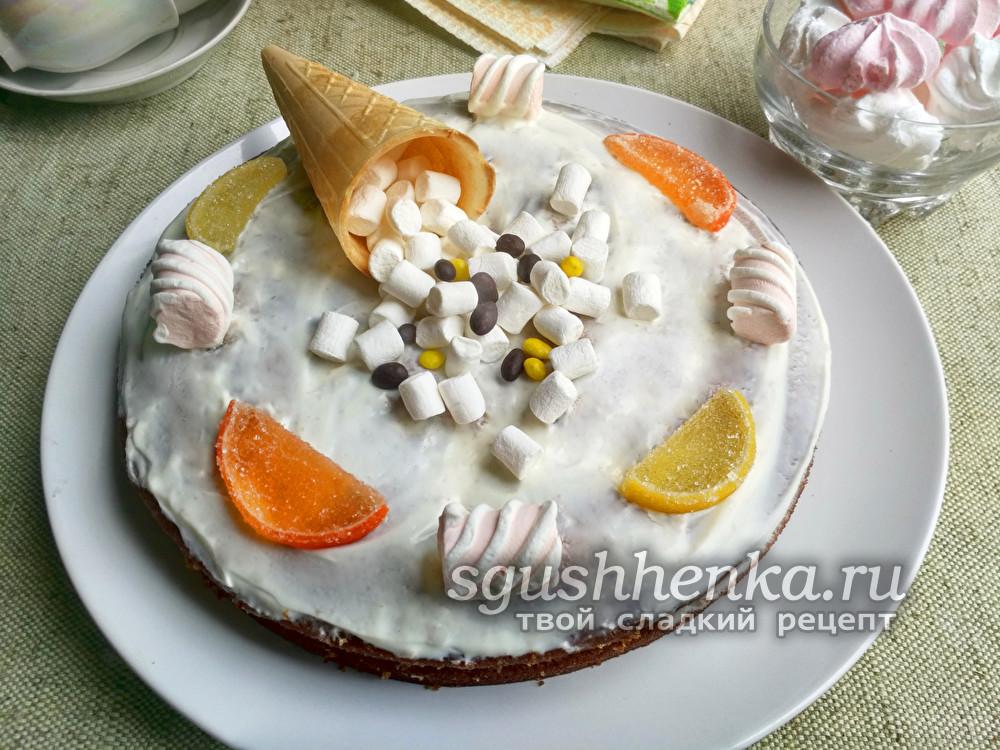 Быстрый торт за 10 минут