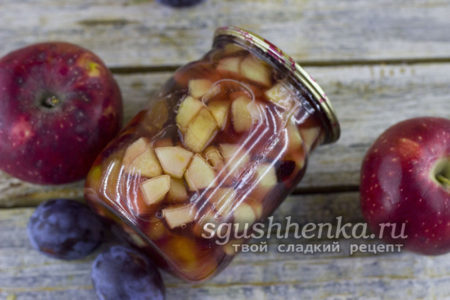 варенье из слив и яблок рецепт