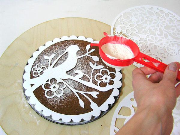 Трафареты для украшения торта