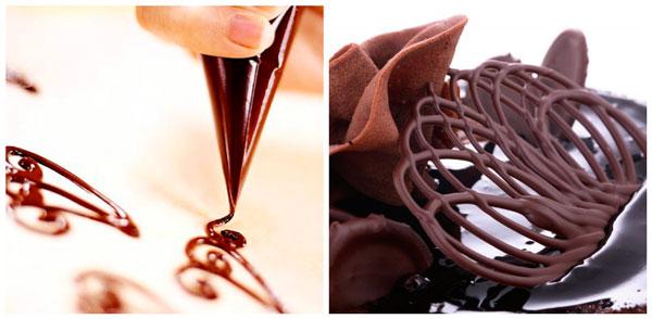 Ажурные узоры из шоколада