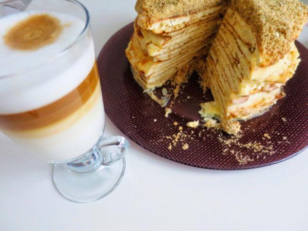 Рецепт торта Наполеона с вареной сгущенкой