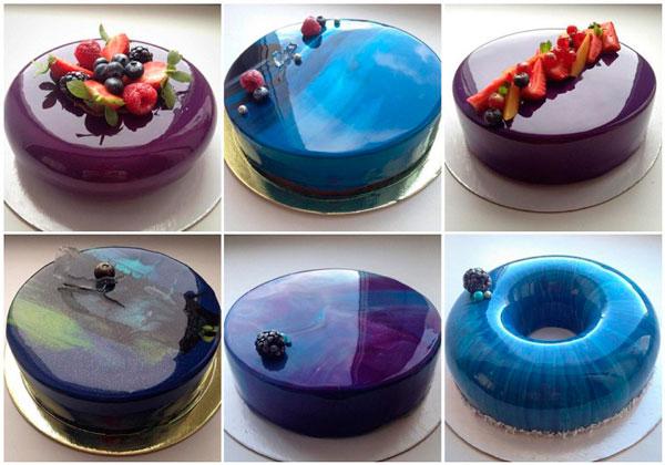 Торт, украшенный зеркальной глазурью