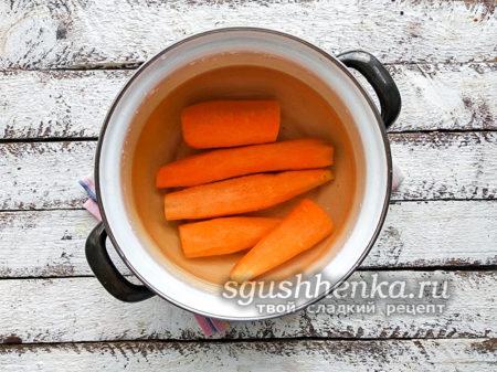 очищенная морковка