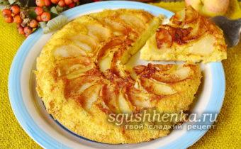 пошаговый рецепт яблочной шарлотки