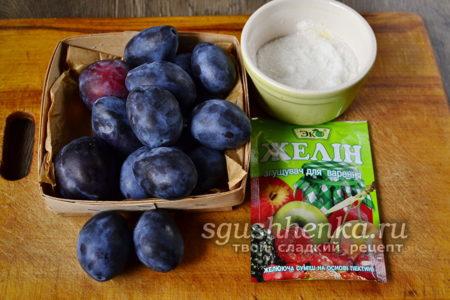 ингредиенты для конфитюра из слив