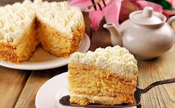 Торт с пломбирным кремом