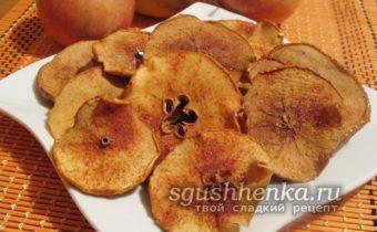 вкусные и простые яблочные чипсы