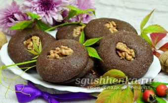 шоколадное печеное с орехами