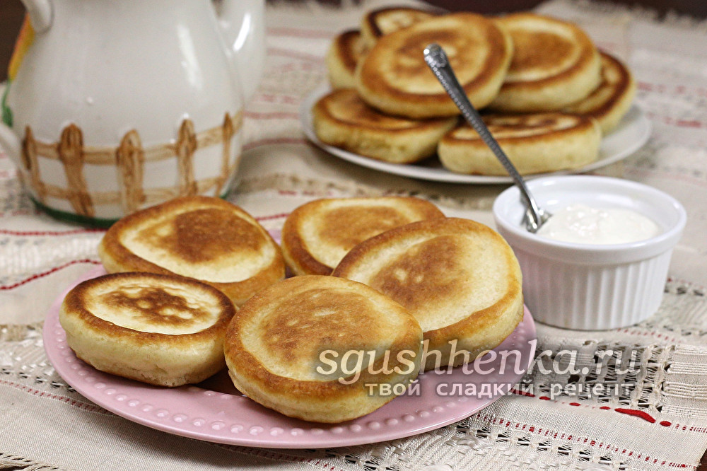 вкусные оладьи на завтрак