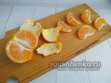 очистить мандарин
