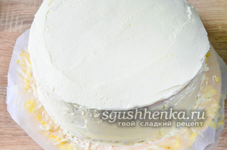 покрыть верх торта