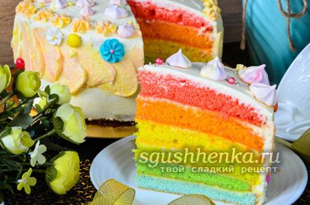 радужный торт в домашних условиях