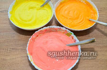 покрасить в разные цвета