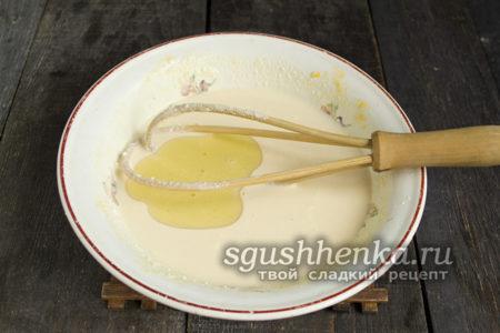 готовим тесто для запеканки