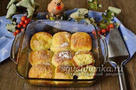 готовые булочки из творога