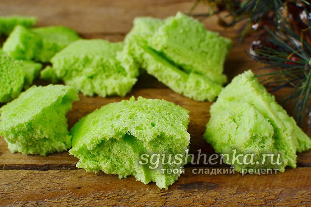 зеленый бисквит