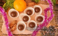 круглые шоколадные конфеты