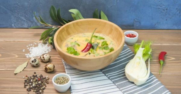Кокосовый суп с манго