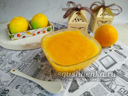 крем для торта из цитрусовых