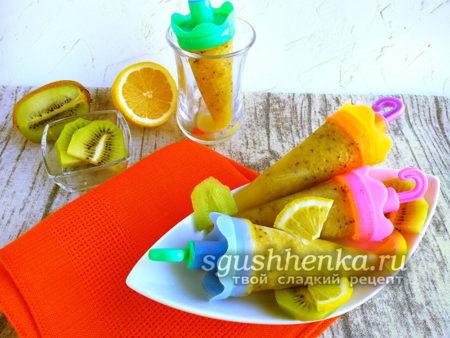 фруктовый лед из киви