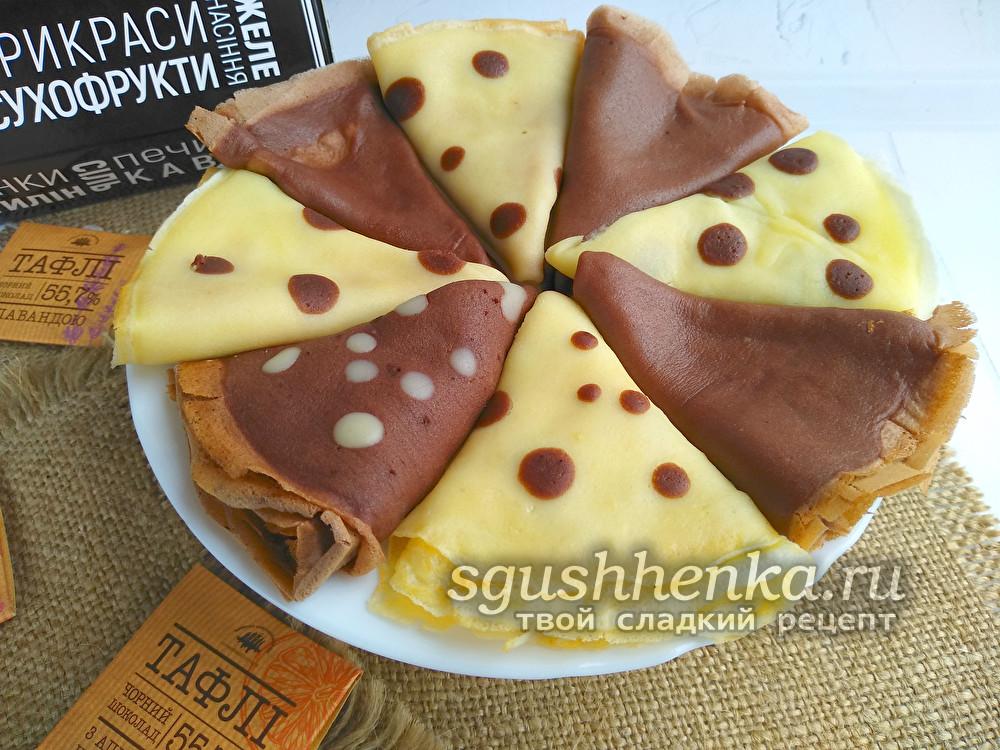 шоколадные блины из какао