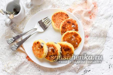 классический рецепт сырников