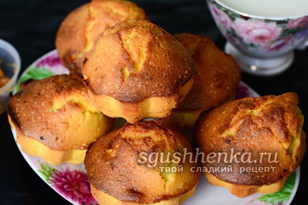готовые кексы со сгущенкой