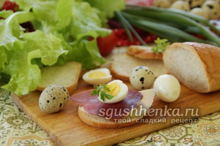 яйца на бутербродах